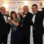David and his dad John at the 2013 Business awards (farthest right)