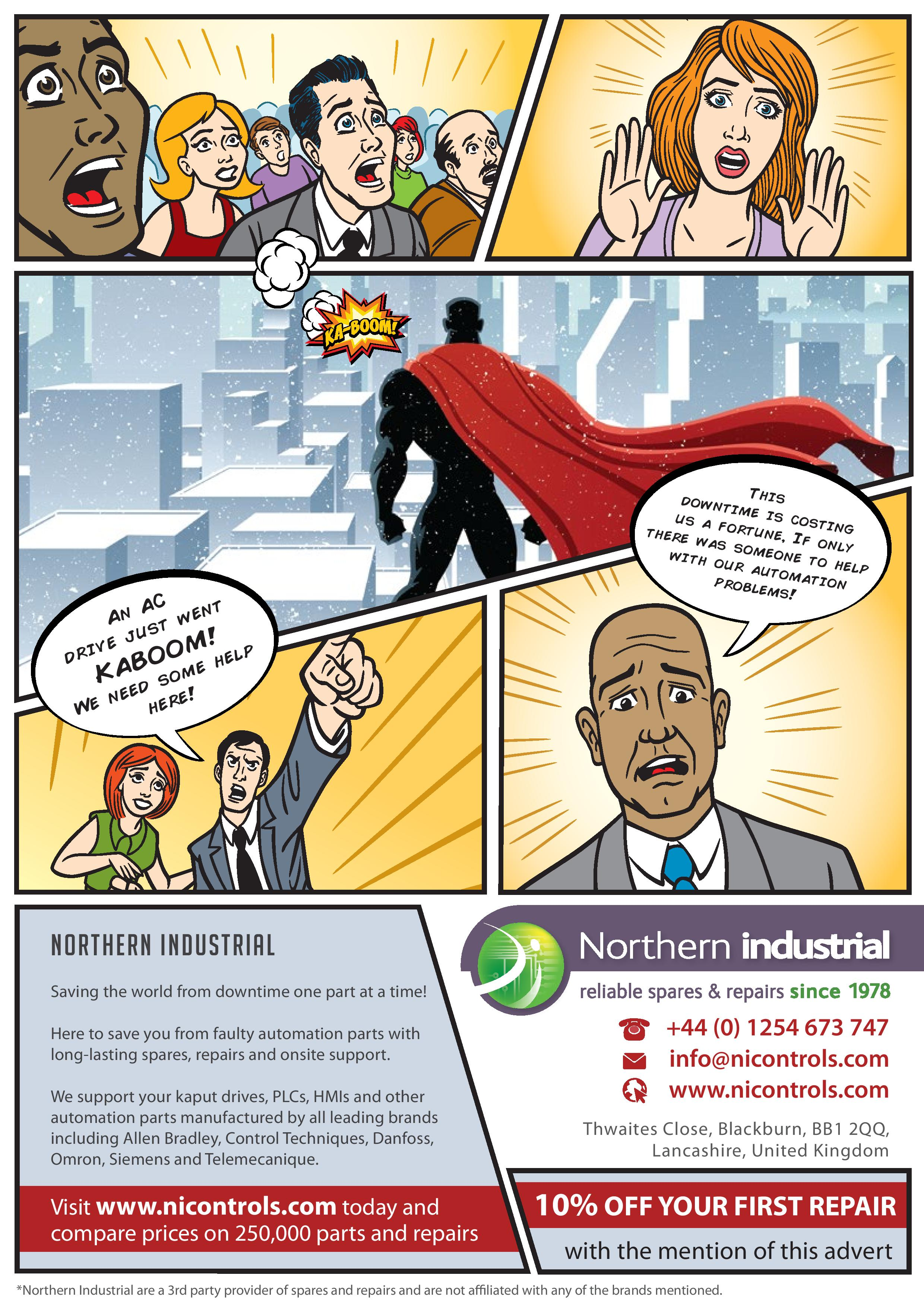 Northern Industrial advert - saving the world from downtime